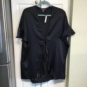 Victoria's Secret Black Robe One Size NWT